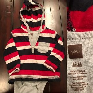 EUC Boys Tea Collection Hooded Onesie